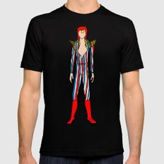 Bowie Fashion 3 Mens Fitted Tee SMALL Black