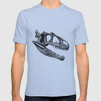 Allosaurus Mens Fitted Tee Athletic Blue SMALL