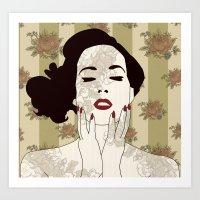 Vintage Glamour Art Print