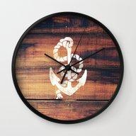 Vintage Nautical Anchor … Wall Clock