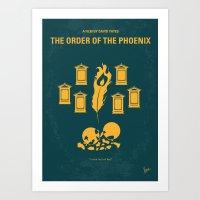 No101-5 My HP - ORDER OF THE PHOENIX minimal movie poster Art Print