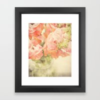 Peach Bunch Framed Art Print