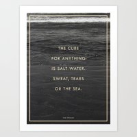 Salt Water Art Print