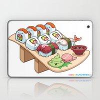 Kawaii California Roll and Sushi Shrimp and Tuna Nigiri Laptop & iPad Skin