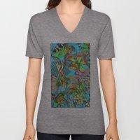 psychedelic garden Unisex V-Neck