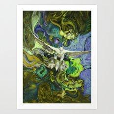 Freedom green Art Print