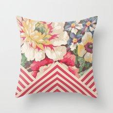 Floral Chevron Throw Pillow