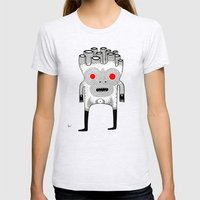 cardboard man Womens Fitted Tee Ash Grey SMALL