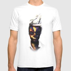 Nik. White Mens Fitted Tee SMALL