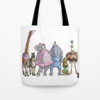 Animal Mural Crew Tote Bag