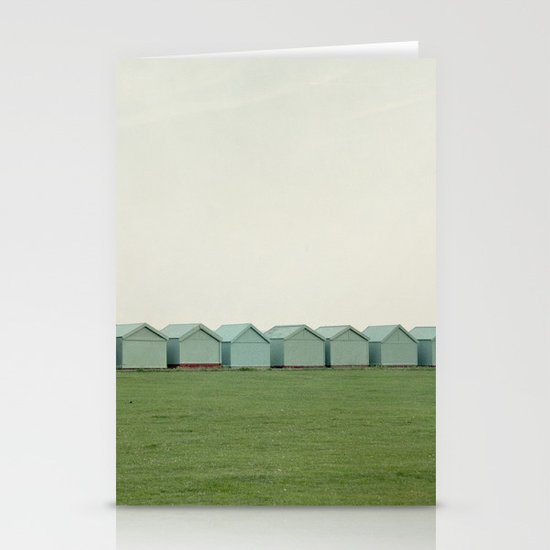 Beach Huts Stationery Card