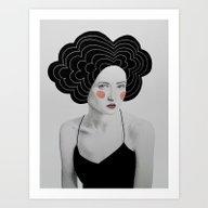 Art Print featuring Minerva by Sofia Bonati