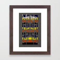 Eastachi -Wezteka Union. Framed Art Print
