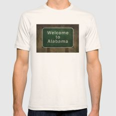 Alabama Roadside Sign Il… Mens Fitted Tee Natural SMALL