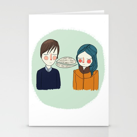 I Can't See Anything I Don't Like About You Stationery Card