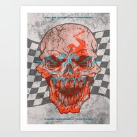 Death Valley Racers Moto… Art Print