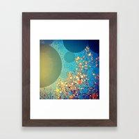 Sky and Leaves Framed Art Print