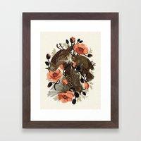 Spangled & Plumed Framed Art Print