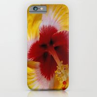 iPhone Cases featuring Yellow Burst by BeachStudio