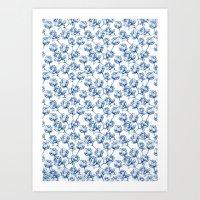 Lotus Pattern Art Print