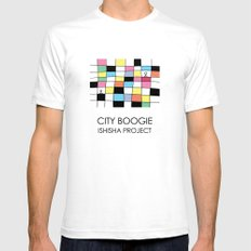CITY BOOGIE  by ISHISHA PROJECT Mens Fitted Tee White SMALL