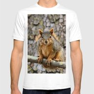 Faux Fox Squirrel Mens Fitted Tee White SMALL