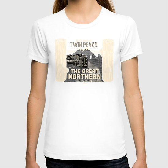 the Great Northern Hotel (Faux Canvas - rust) T-shirt