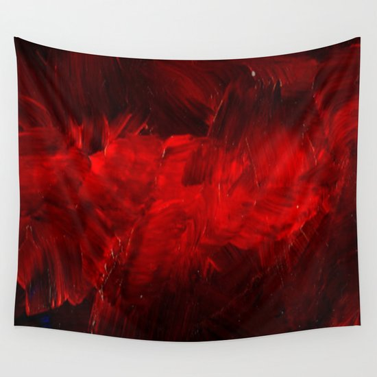 Red Wall Tapestry By Corbin Henry Society6