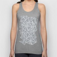 Shattered Ab Grey and White  Unisex Tank Top