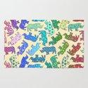 Rhino Patchwork Pattern - rainbow Rug