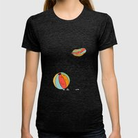Ballons Womens Fitted Tee Tri-Black SMALL