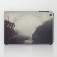 Bridge and River in Fog iPad Case