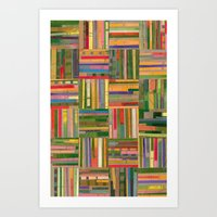 Springtime Collagescape Art Print