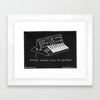 Moog pun Framed Art Print