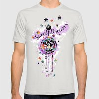 Sweet Dreams Dreamcather Mens Fitted Tee Silver SMALL