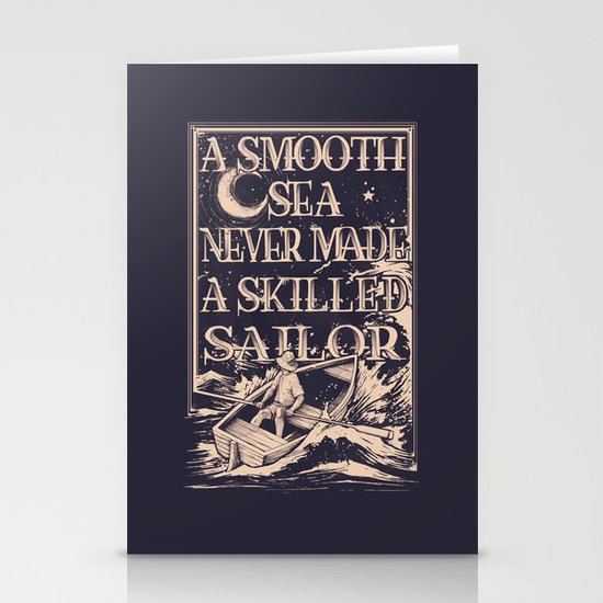 A Smooth Sea Stationery Card