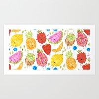 Fruits print Art Print