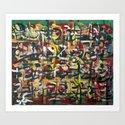 GLYPHS OF XANADU5 Art Print