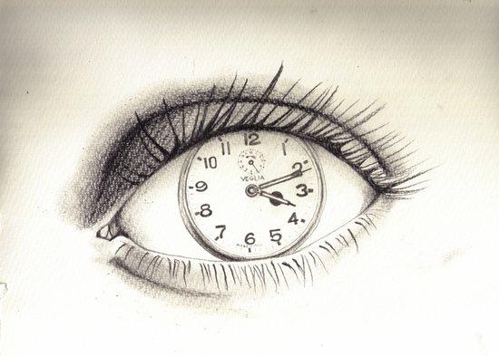 time-eye Art Print