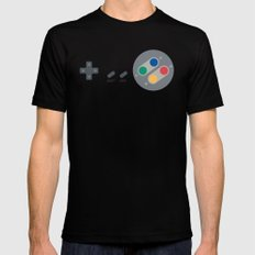 SNES controller Mens Fitted Tee Black SMALL