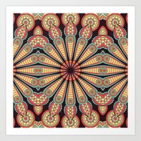 Boho Circle Geometric Pattern Art Print