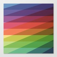Fig. 040 Rainbow Stripes Canvas Print