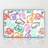 Crayon Love: Dragons Laptop & iPad Skin
