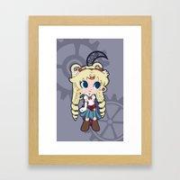 Steampunk Sailor Moon Framed Art Print