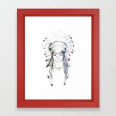 Indian man II Framed Art Print