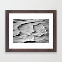 Snow Dunes Framed Art Print