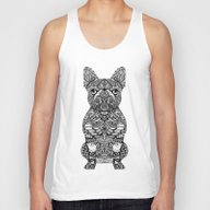 Mandala Frenchie Unisex Tank Top