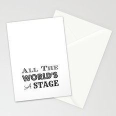 All the world's a stage William Shakespeare Typography Stationery Cards