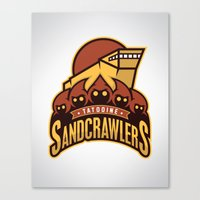 Tatooine SandCrawlers Canvas Print
