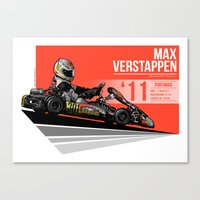 Max Verstappen - 2011 Po… Canvas Print